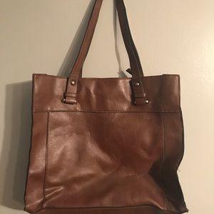 Merona Brown Leather Shoulder Bag